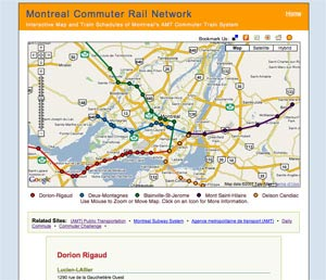 Image of Montreal Commuter Train System Map
